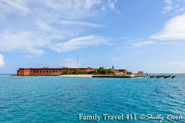 view from ferry arriving at Fort Jefferson on Dry Tortugas