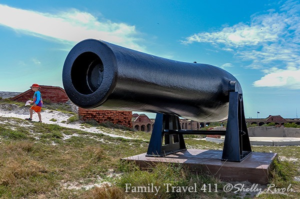 cannon on roof of Fort Jefferson at Dry Tortugas National Park