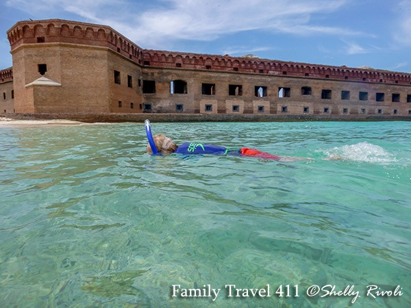 kid snorkeling at Dry Tortugas National Park