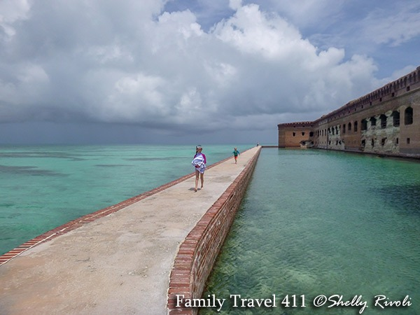 kids exploring Fort Jefferson Dry Tortugas