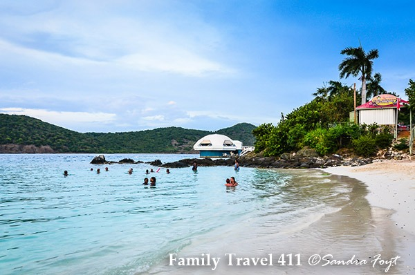 Coki Point US Virgin Islands for snorkeling with kids