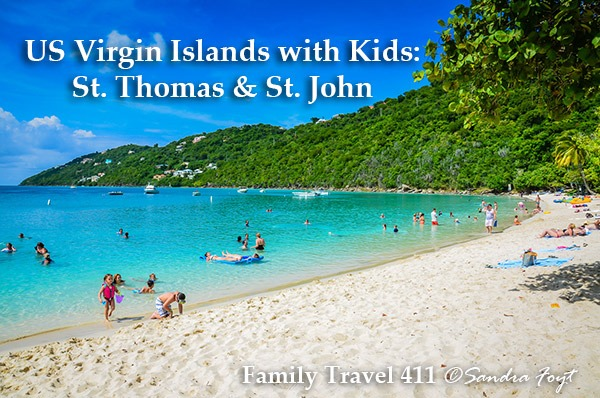 Magens Bay family-friendly beach with kids, USVI