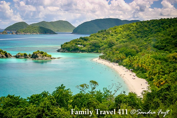 Trunk Bay, USVI, a national park to visit on St. John with kids