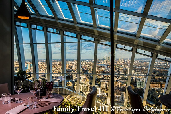 Dining with views at Darwin Brasserie in London.