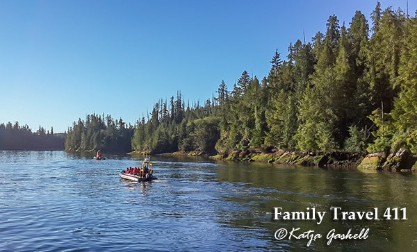 Catch an morning boat ride on your visit to Tofino with kids.