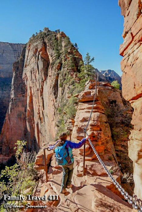 Angel's Landing Zion National Park with kids