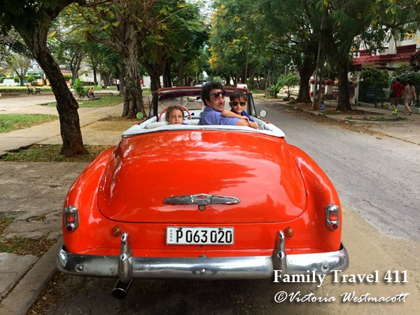 Explore Havana with kids in a classic car!