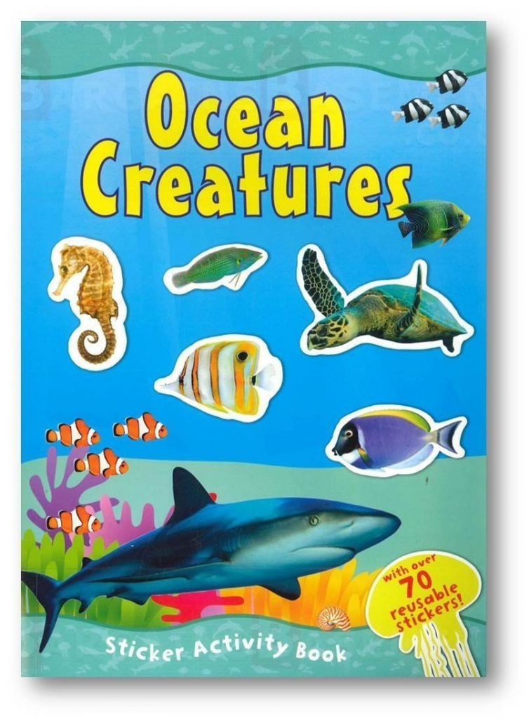 Save on a set of FOUR sticker activity books.