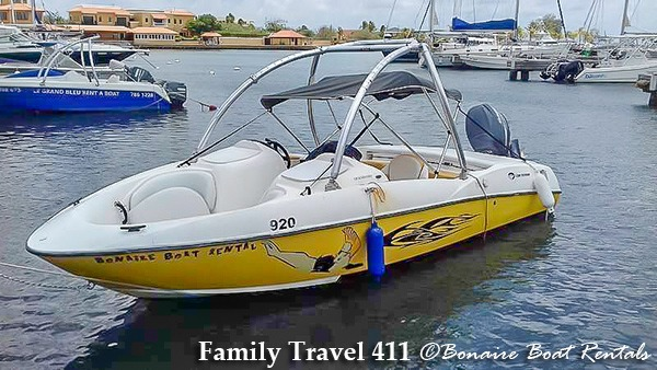 Cruise the Bonaire shore in your own rental boat.