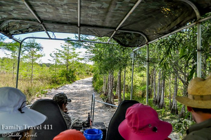 Off we go in the swamp buggy into the heart of Big Cypress National Preserve.