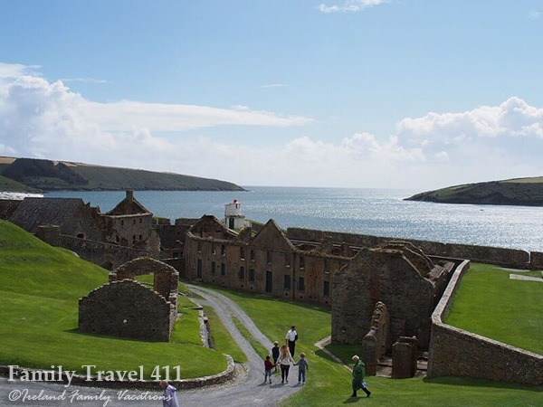 County Cork's Charles Fort is most fun explored with kids!