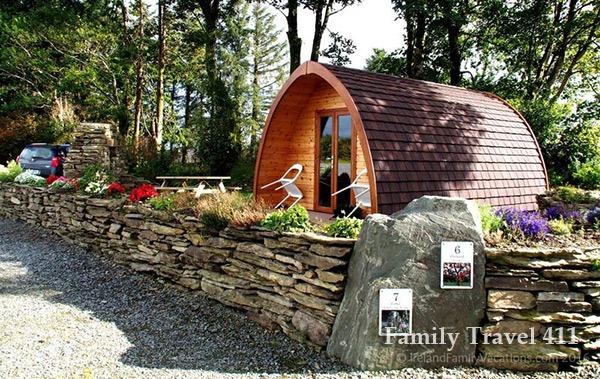 A camping pod at Top of the Rock Pod Pairc.