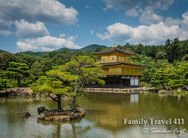 The Golden Pavilion at Kinkakuji.