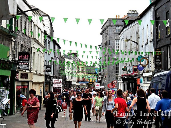 Exploring the Latin Quarter in Galway, Ireland.