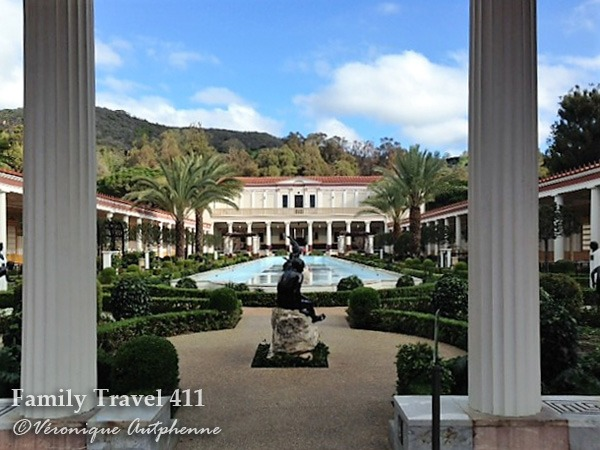Courtyard at the Getty Villa.