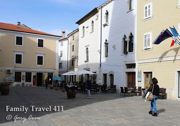 Cafe-hop al fresco in Italian-influenced Izola.