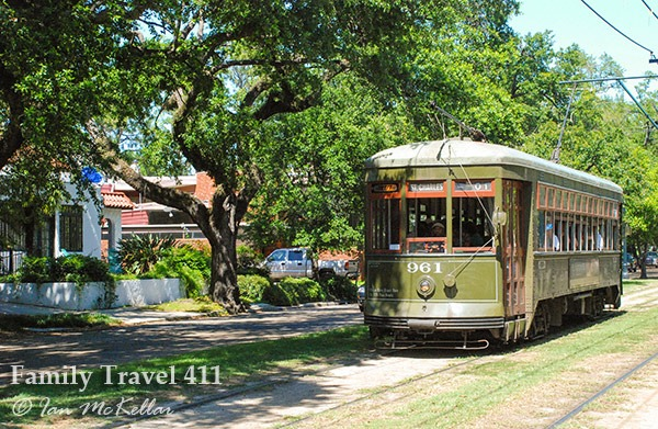 Don't miss your chance to ride the St. Charles Streetcar on your visit to New Orleans with kids.