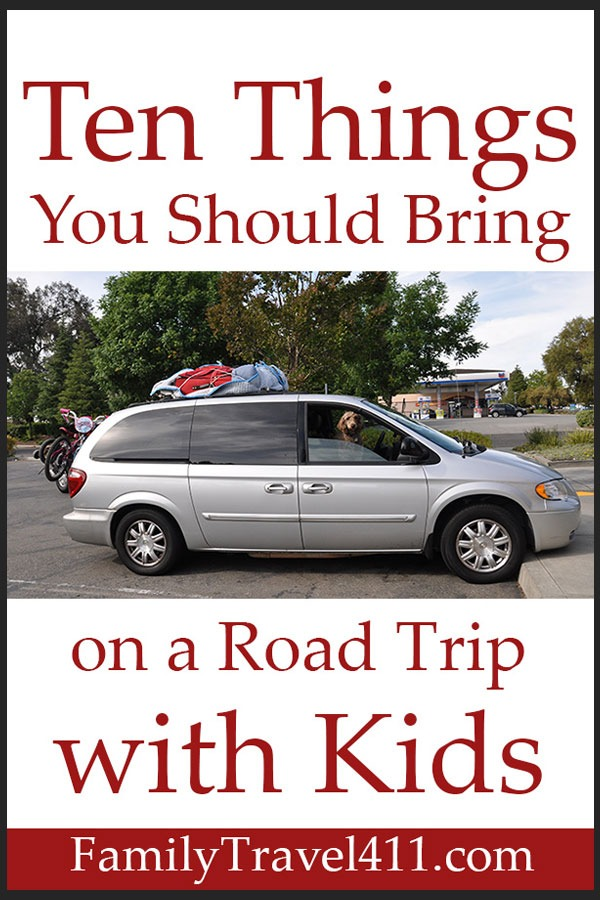 pinnable image for packing list for road trips with kids