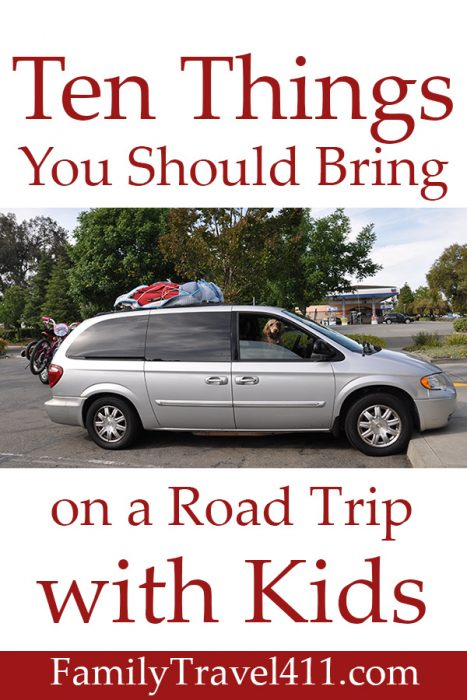 Ten things you should bring on a road trip with kids.
