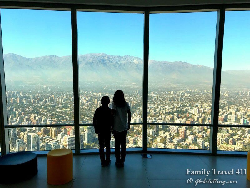 the view from Gran Torre Santiago