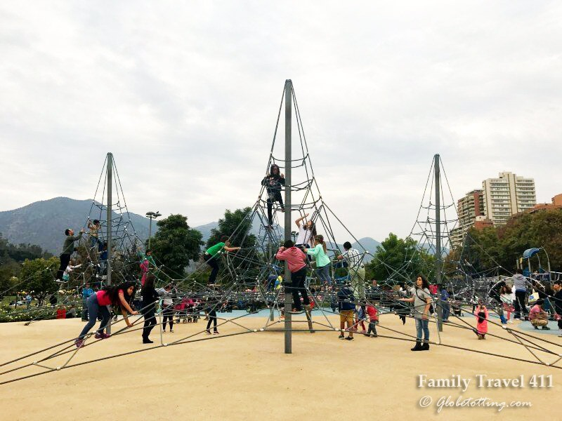 One of several playgrounds found in Santiago's Park Bicentario.