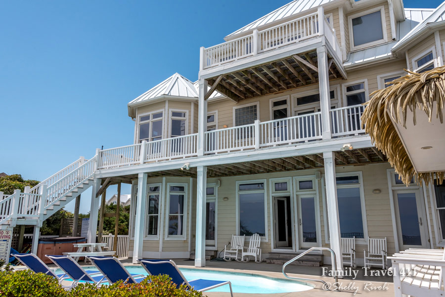 The multi-gen friendly enormous beach house by Bluewater Vacation Rentals.
