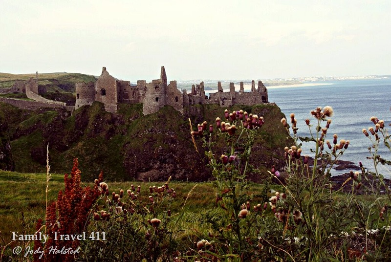 Ruins of medieval Dunluce Caslte on the Causeway Coastal Route.