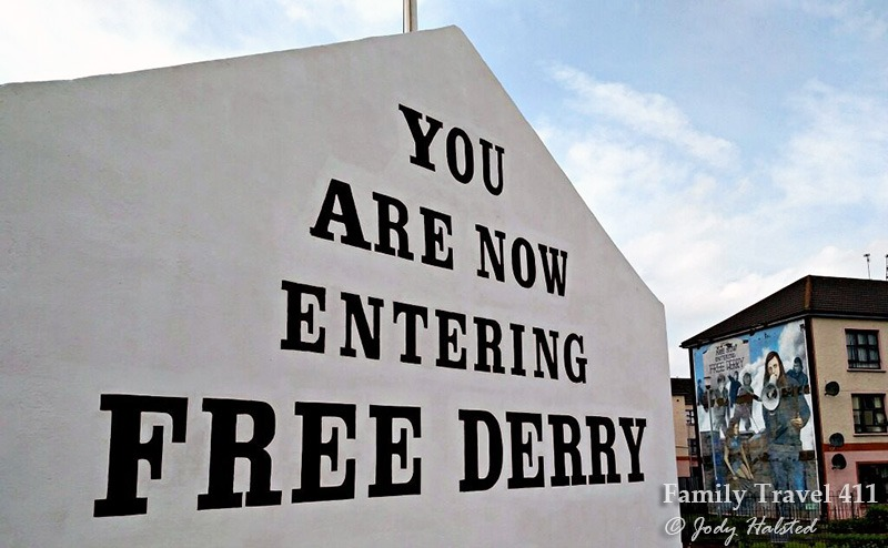 "Entrance to Northern Ireland's ""Free Derry."""