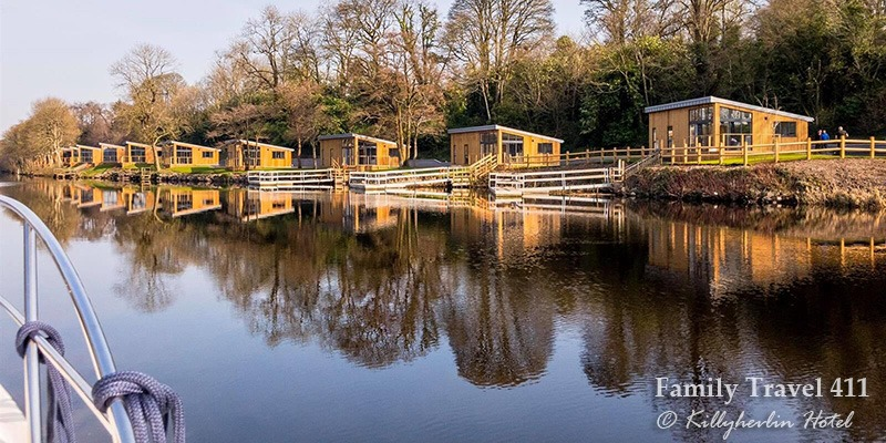 Killyhevlin Hotel's waterside cabins