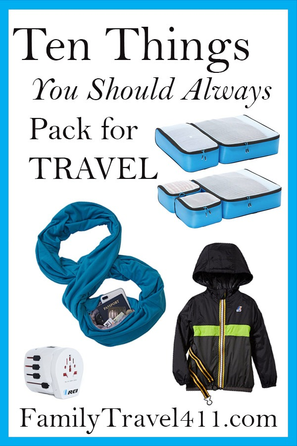 Ten things you should always pack for travel pinnable.