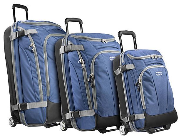 A value set of eBags' own TLS wheeled duffles.