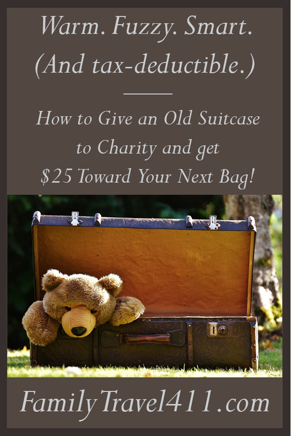 Give an Old Suitcase to charity pinnable