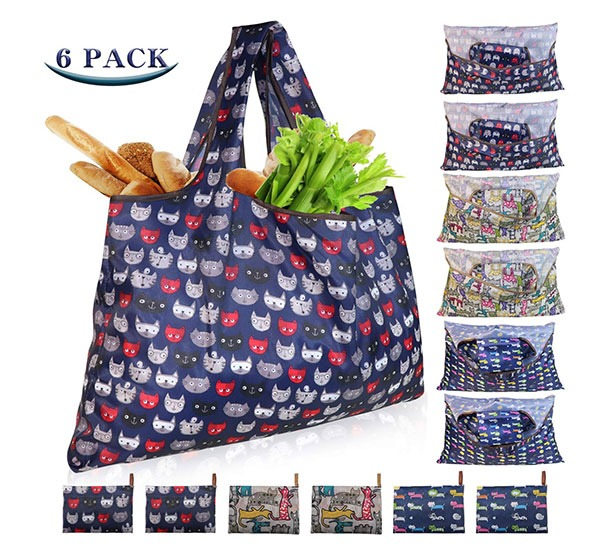 folding reusable shopping bags for travel