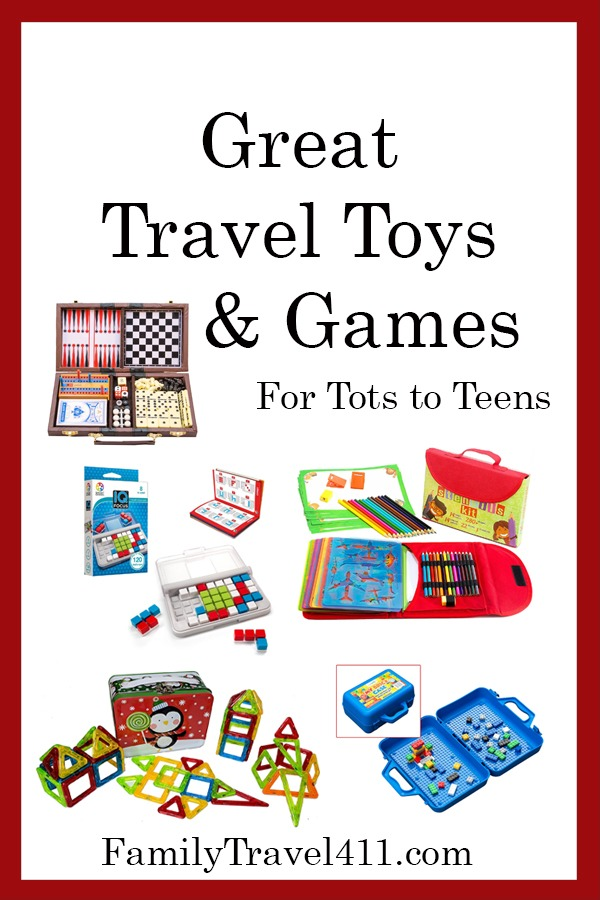 Travel toys and games.
