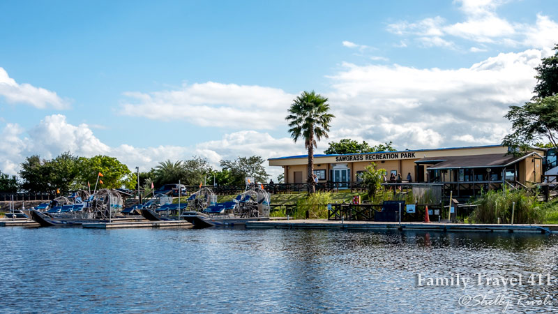 Airboat docks and gift shop at Sawgrass Recreation Park, Florida Everglades