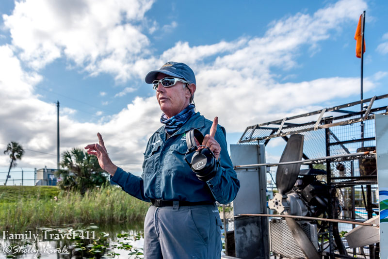 Everglades airboat captain Debra Deitle at Sawgrass Recreation Park