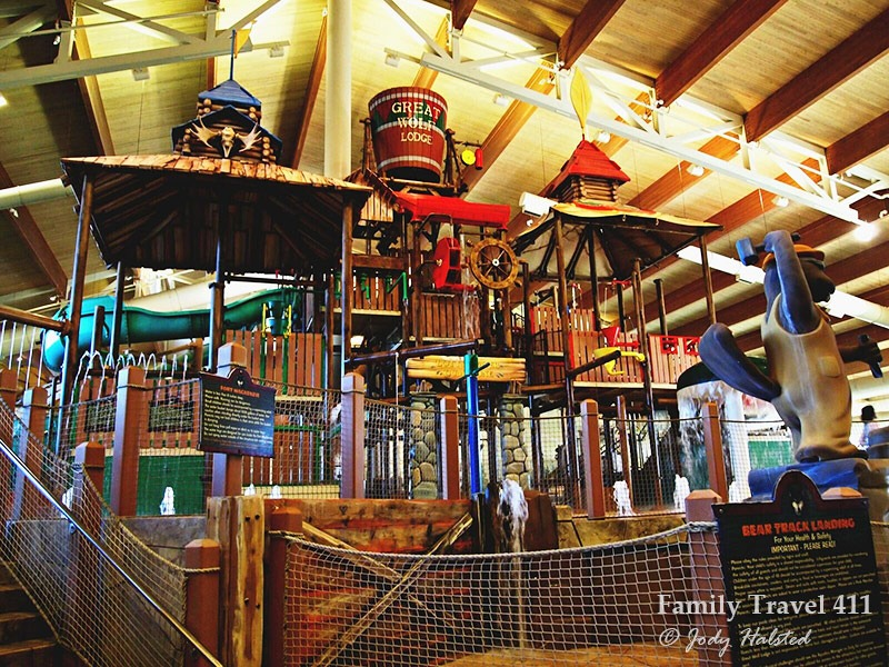 Part of the water park at Great Wolf Lodge--a great place to stay in Grapevine with kids.