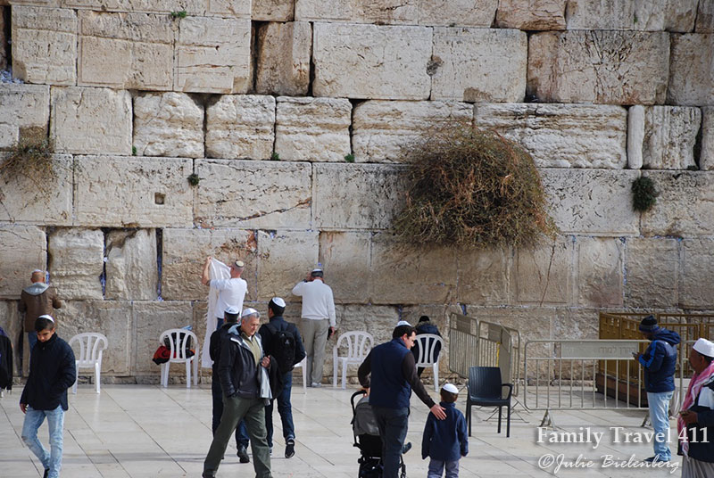 Visiting Jerusalem's Western Wall with kids.