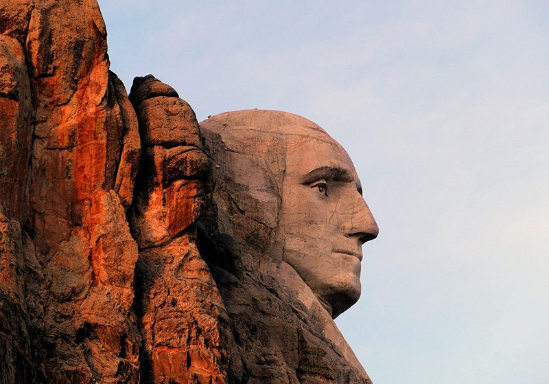 Mount Rushmore profile of George Washington
