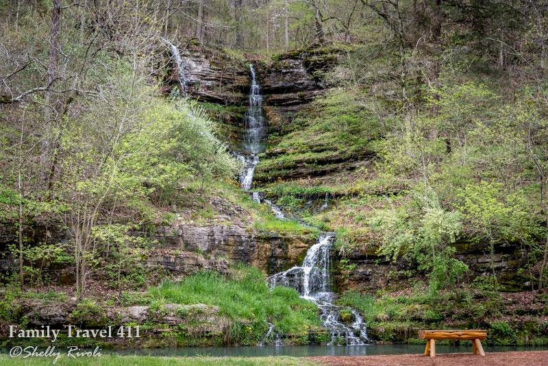 Two water falls become one at Dogwood Canyon Nature Park