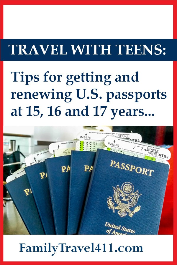 travel with teens passport info