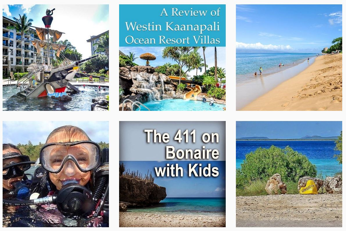 Instagram posts of Family Travel 411 travel guides