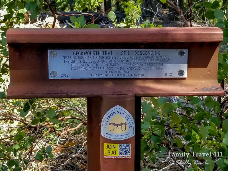 marker of a historic California Trail included in review of the Greenhorn Ranch