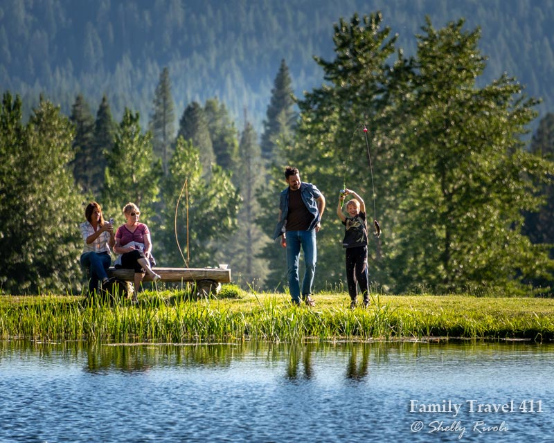 easy fishing for families during a Greenhorn dude ranch vacation